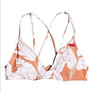 NWT Roxy Tropical Leaf Print Terra Cotta Bikini